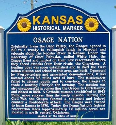 Osage Nation Marker image. Click for full size.