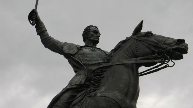 Simón Bolívar by Felix de Weldon image. Click for full size.