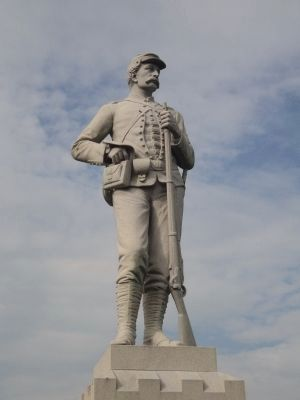 Closeup of Soldier on Monument image. Click for full size.