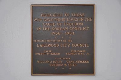 Korean Conflict Marker [left] image. Click for full size.
