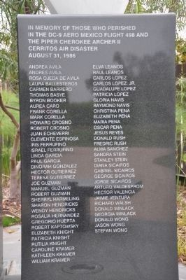 Cerritos Air Disaster Memorial [right] image. Click for full size.