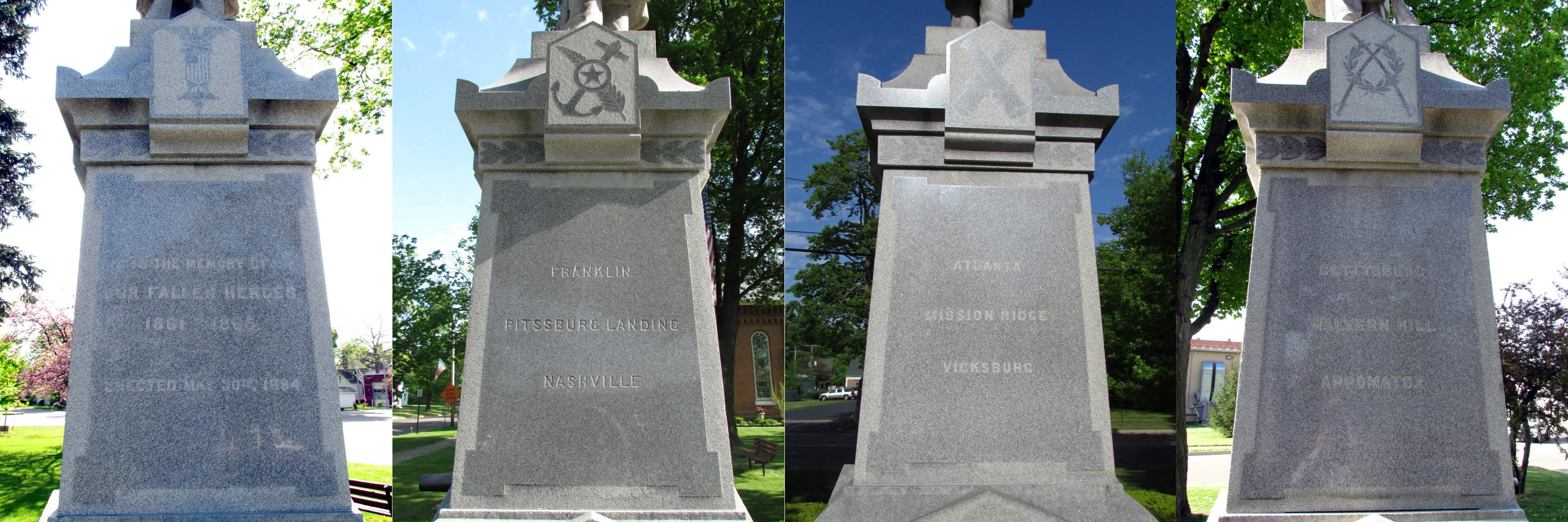 Inscriptions on Monument