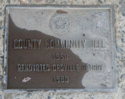County Community Well Marker image. Click for full size.