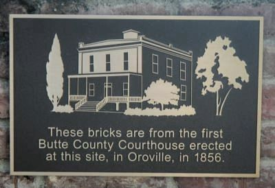 Butte County Courthouse Bricks Marker image. Click for full size.