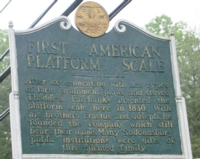 First American Platform Scale Marker image. Click for full size.