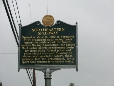 Northeastern Speedway Marker image. Click for full size.