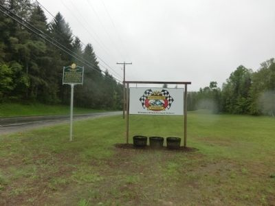 Wideview of Northeastern Speedway Marker image. Click for full size.