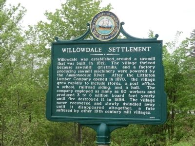 Willowdale Settlement Marker image. Click for full size.
