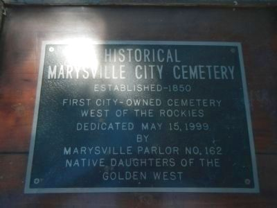 Historical Marysville City Cemetery Marker image. Click for full size.