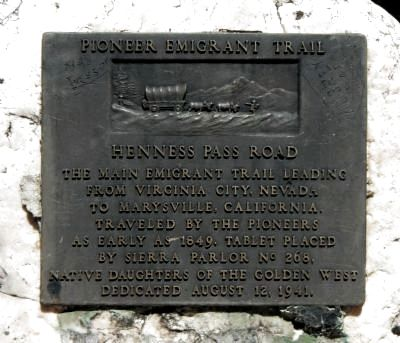 Henness Pass Road Marker image. Click for full size.
