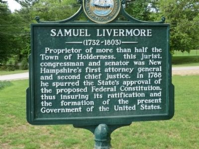 Samuel Livermore Marker image. Click for full size.