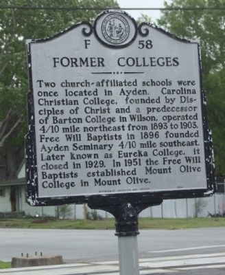 Former Colleges Marker image. Click for full size.