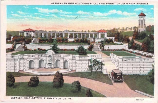 The Formal Gardens and Observation Tower Behind Swannanoa image. Click for full size.