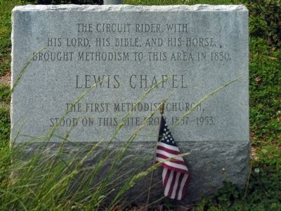 Lewis Chapel Marker<br>at Cranford Methodist Church image. Click for full size.