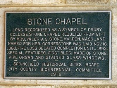 Stone Chapel Marker image. Click for full size.
