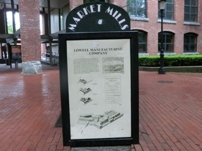 Lowell Manufacturing Company Marker image. Click for full size.