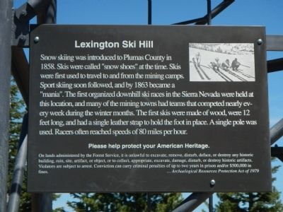 Lexington Ski Hill Marker image. Click for full size.
