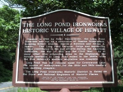 The Long Pond Ironworks Marker image. Click for full size.