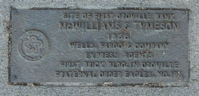 Site of First Oroville Bank Marker image. Click for full size.