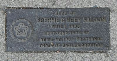 Site of Boehme & Heep Saloon Marker image. Click for full size.