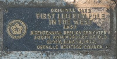 Original Site First Liberty Pole Marker image. Click for full size.