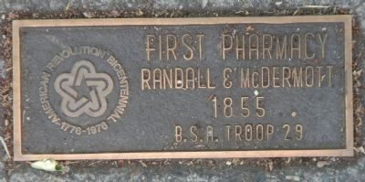 First Pharmacy Marker image. Click for full size.