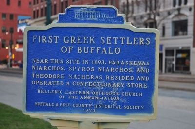 First Greek Settlers of Buffalo Marker image. Click for full size.