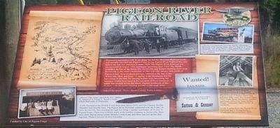 PIgeon River Railroad Marker image. Click for full size.
