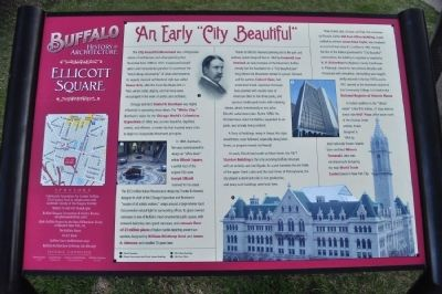 Ellicott Square Marker image. Click for full size.