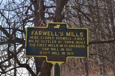 Farwell's Mill Marker image. Click for full size.