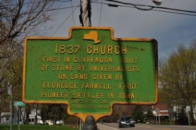 1837 Church Marker image. Click for full size.