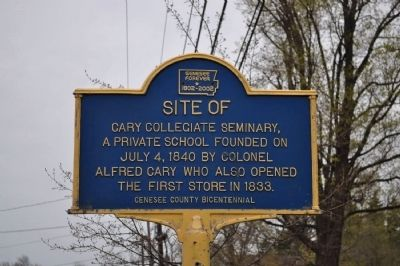 Site of Cary Collegiate Seminary Marker image. Click for full size.
