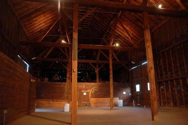The Church Family Barn Interior (1916) image. Click for full size.