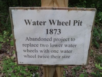 Water Wheel Pit Marker image. Click for full size.
