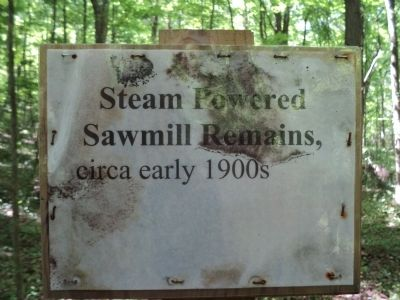 Steam Powered Sawmill Remains Marker image. Click for full size.