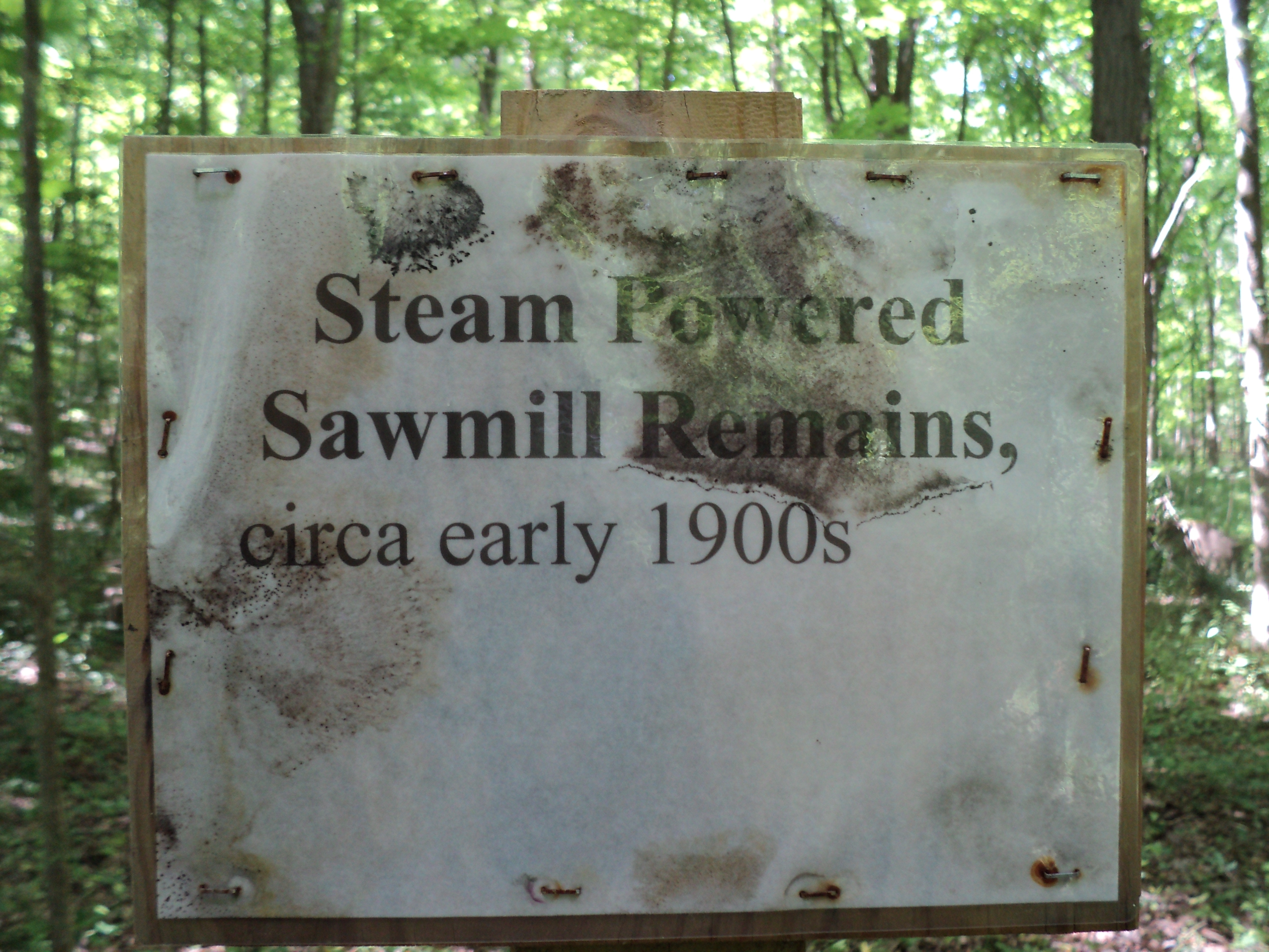 Steam Powered Sawmill Remains Marker
