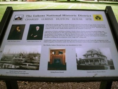 Charles Lukens Huston House Site Marker image. Click for full size.