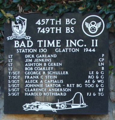 457th Bombardment Group 749th BS image. Click for full size.