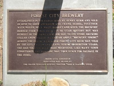 Forest City Brewery Marker image. Click for full size.