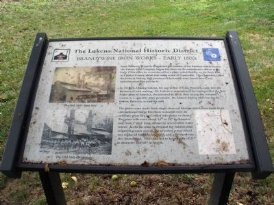 Brandywine Iron Works - Early 1800s Marker image. Click for full size.