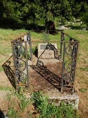 The Grave of Adam Lee Moore, Clamper Partiarch, in the Downieville Cemetery image. Click for full size.