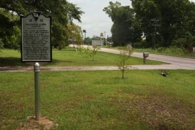 Dorchester Lumber Company Marker looking east along US 78 image. Click for full size.