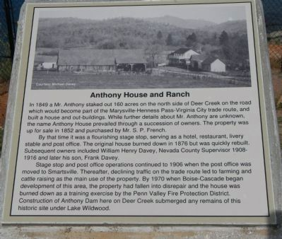 Anthony House and Ranch Marker image. Click for full size.