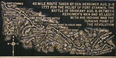 General Herkimer Marched Past This Spot Marker image. Click for full size.