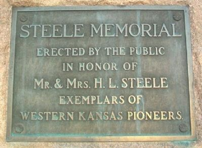 Steele Memorial Marker image. Click for full size.