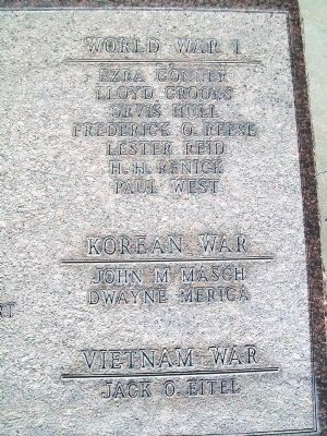 War Memorial Honor Roll image. Click for full size.