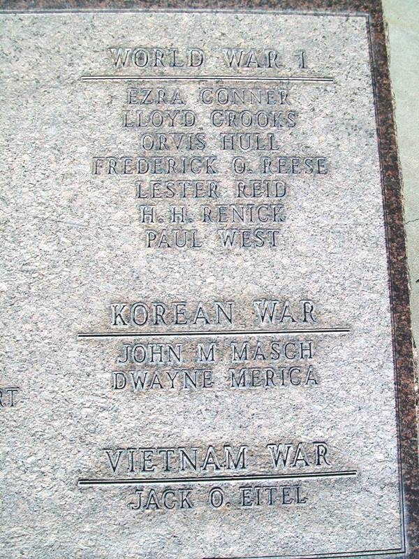 War Memorial Honor Roll