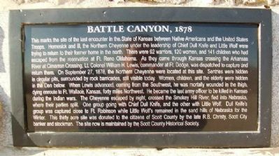 Battle Canyon, 1878 Marker image. Click for full size.