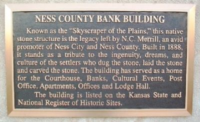 Ness County Bank Building Marker image. Click for full size.