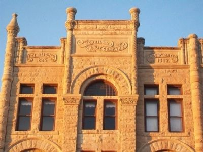 Ness County Bank Building Detail image. Click for full size.